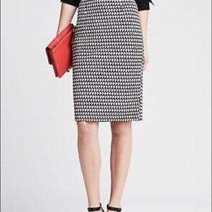 BR Geometric print pencil skirt